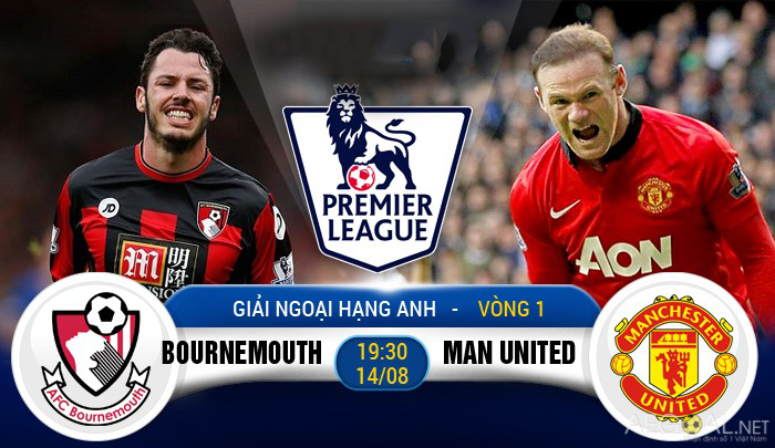 Link sopcast: Bournemouth vs Man Utd