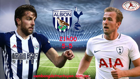 Link sopcast: West Brom vs Tottenham