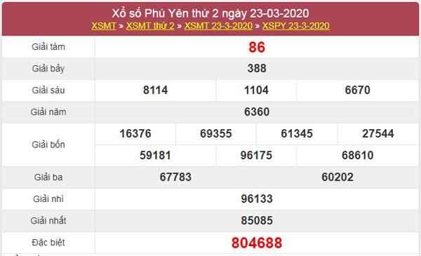 Dự đoán XSPY 30/3/2020 - KQXS Phú Yên thứ 2 hôm nay