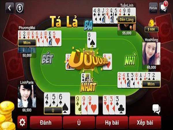 Phỏm tá lả game bài được nhiều người lựa chọn