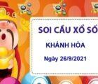 Soi cầu KQXSKH ngày 26/9/2021